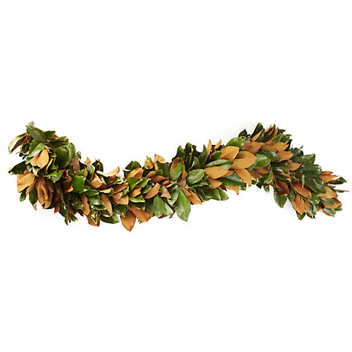 7' Fresh Magnolia Garland