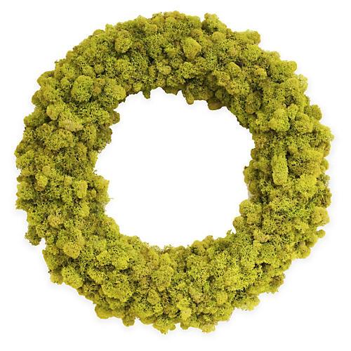 "18"" Reindeer-Moss Wreath, Dried"