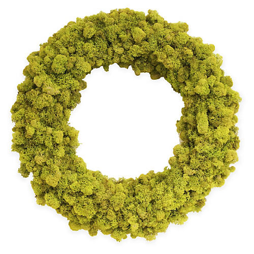 "18"" Reindeer-Moss Wreath, Dried"