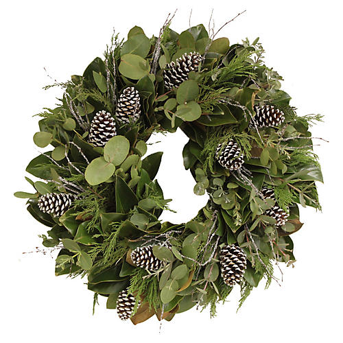 "26"" Fresh Magnolia & Eucalyptus Wreath"