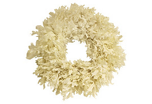 "26"" Transparent Oak Wreath, Dried"