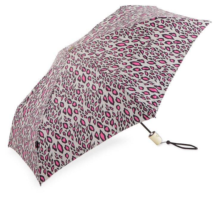 Lightweight Umbrella, Pink Snow Leopard