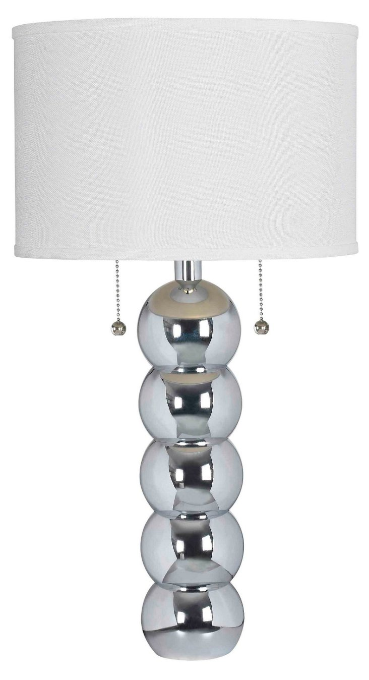 Barstow Table Lamp, Chrome