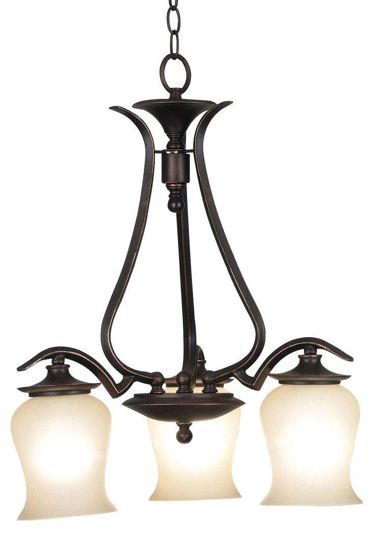 Howard 3-Light Chandelier, Bronze
