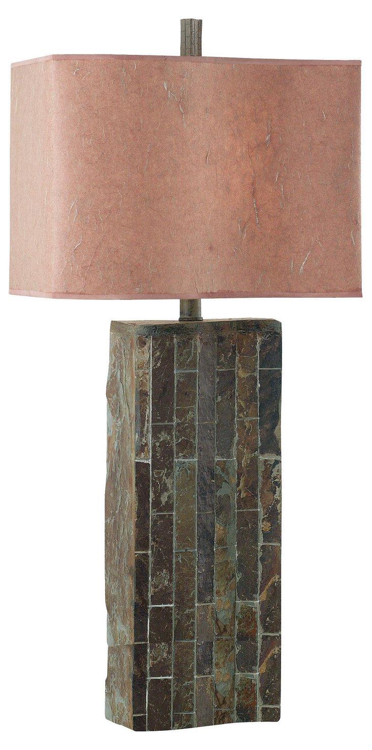 Padma Slate Table Lamp, Slate