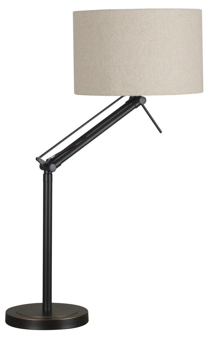 Cole Adjustable Table Lamp, Bronze