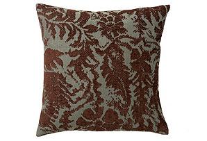 Damask 16x16 Pillow, Teal