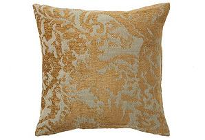 Damask 16x16 Pillow, Antique