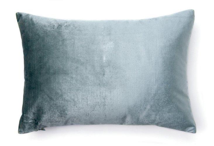 Velvet 14x20 Pillow, Iced Blue