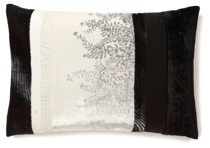 Patchwork 14x20 Pillow, Black