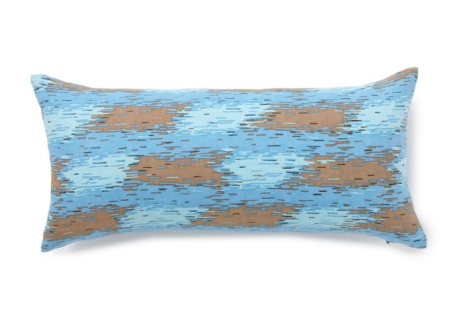 Ikat 8x16 Pillow, Blue