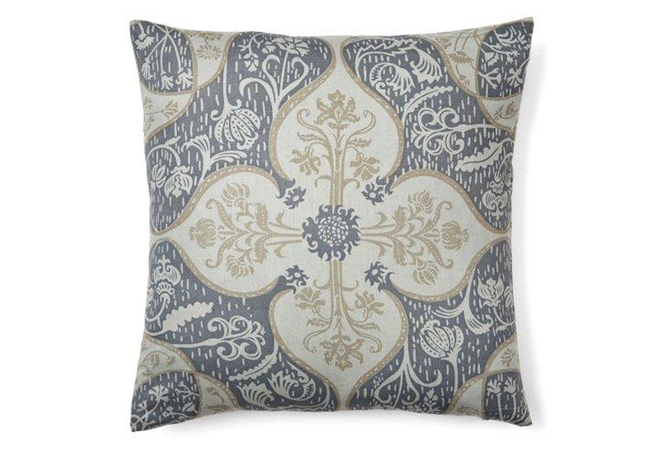 Persian 16x16 Pillow, Blue/White