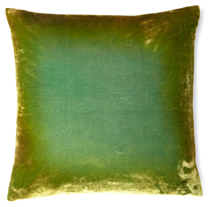 Ombré 18x18 Pillow, Dark Grass