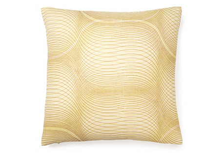 Slinky 16x16 Linen Pillow, Citrus