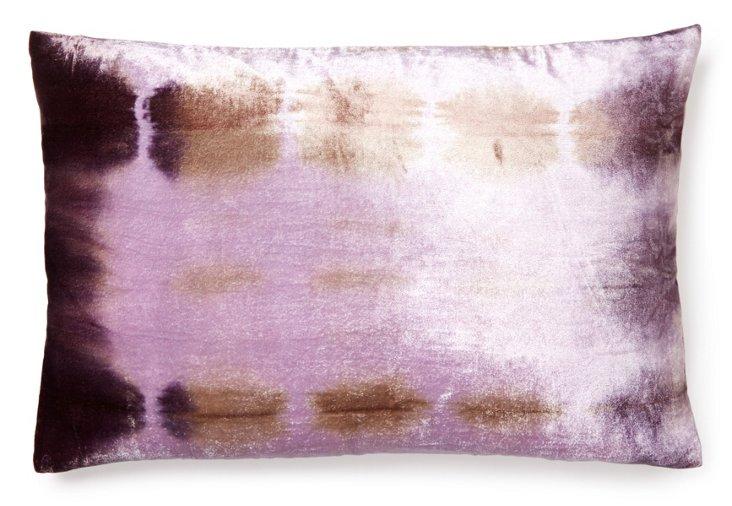 Rorschach 14x20 Velvet Pillow, Orchid