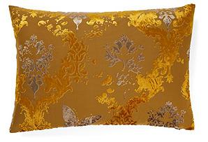 Damask 14x20 Pillow, Gold
