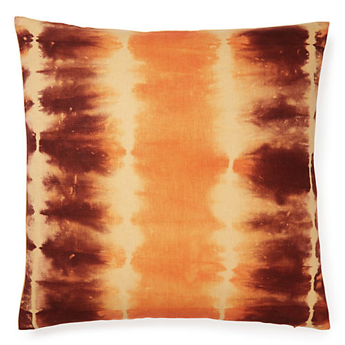 Shibori 18x18 Pillow, Orange