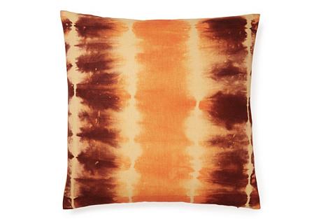 Shibori 18x18 Pillow, Orange