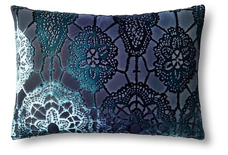 Large Lace 14x20 Velvet Pillow, Shark