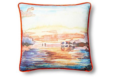 Sunrise 18x18 Pillow, Multi
