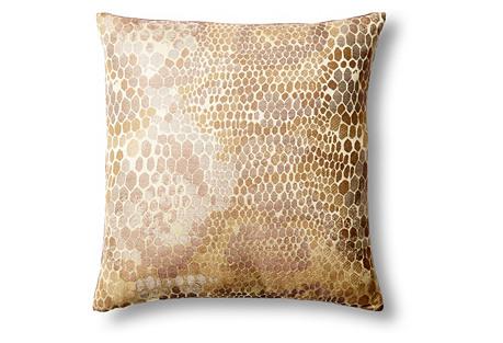 Snakeskin 18x18 Pillow, Gold