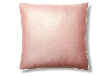 Metallic Tuxedo 22x22 Pillow, Pink
