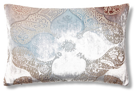 Persian Velvet 12x18 Pillow, Beige