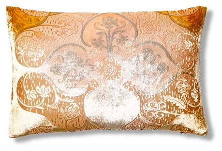 Persian Velvet 12x18 Pillow, Papaya
