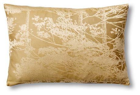 Pinetree 12x18 Jacquard Pillow, Olive