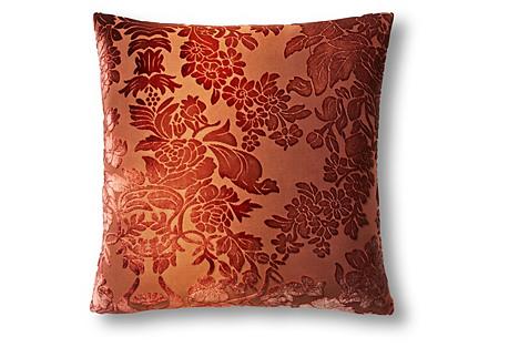 Tapestry 16x16 Velvet Pillow, Copper