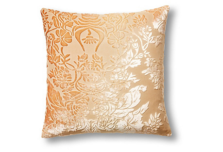 Tapestry 16x16 Velvet Pillow, Brown