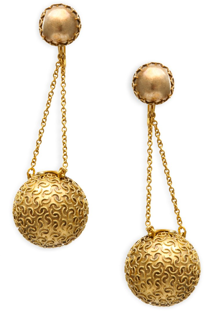 Antique Coach-Cover Earrings