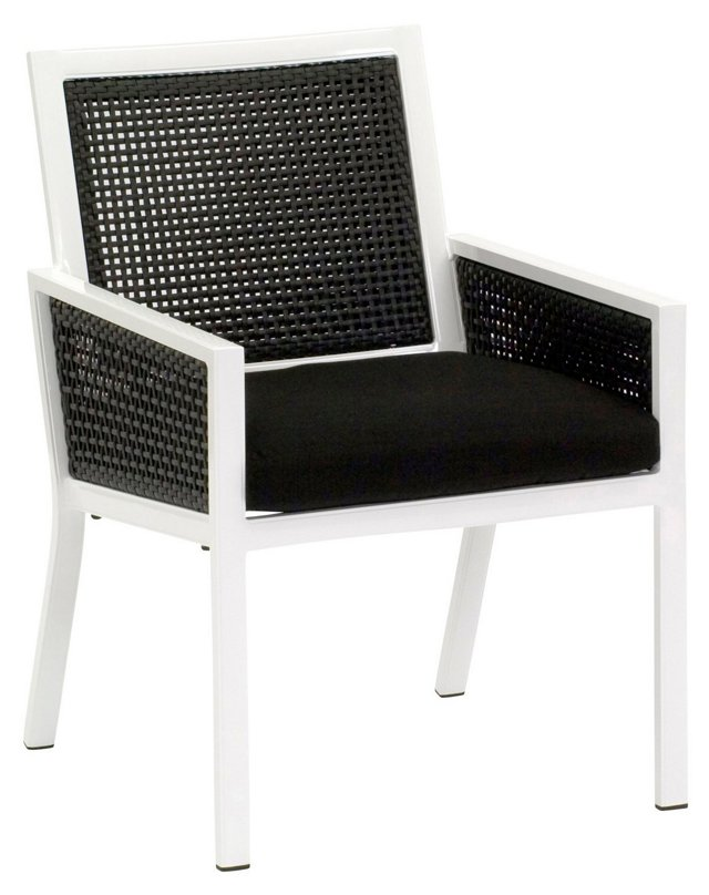 Parkview Woven Dining Chair, Black