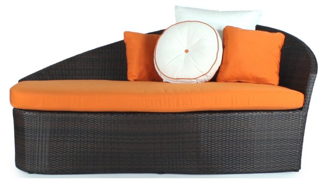 Orange Sail Outdoor Daybed, Right