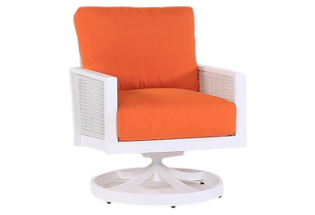 Parkview Woven Club Chair, Orange
