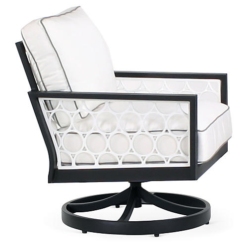 Parkview Cast Swivel Rocking Chair