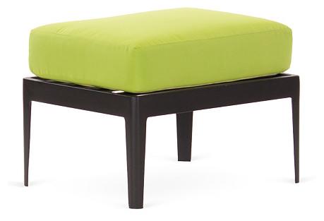 Serene Ottoman, Black/Lime Green