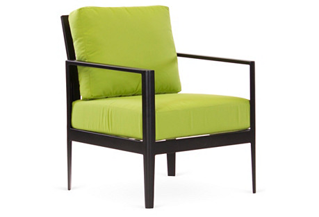 Serene Club Chair, Lime Green