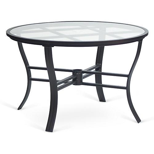 Escape Round Umbrella Dining Table