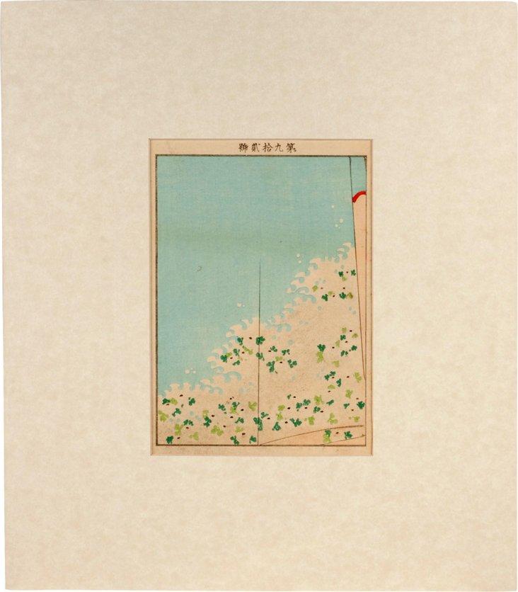 Original Woodcut Design for a Kimono IV