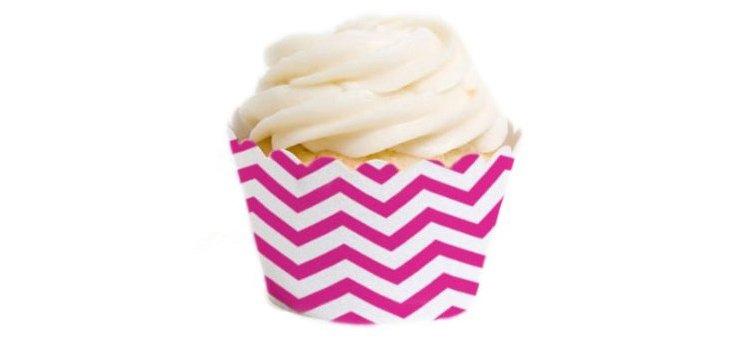 S/72 Chevron Mini Cupcake Liners, Pink