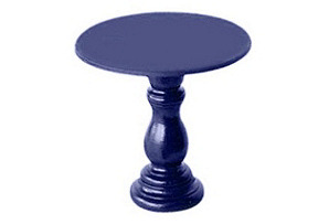 S/2 Mini Wooden Cupcake Stands, Purple