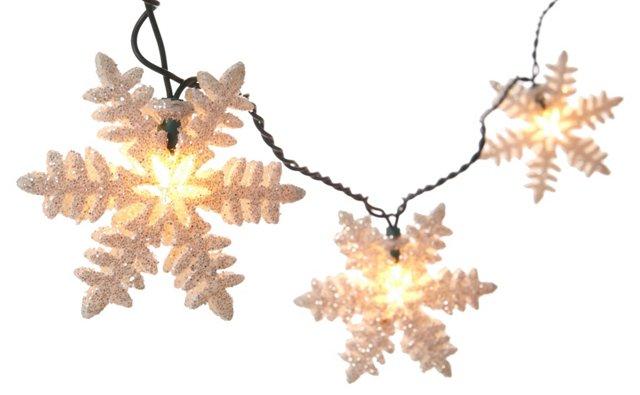 S/2 Mini Snowflake String Lights