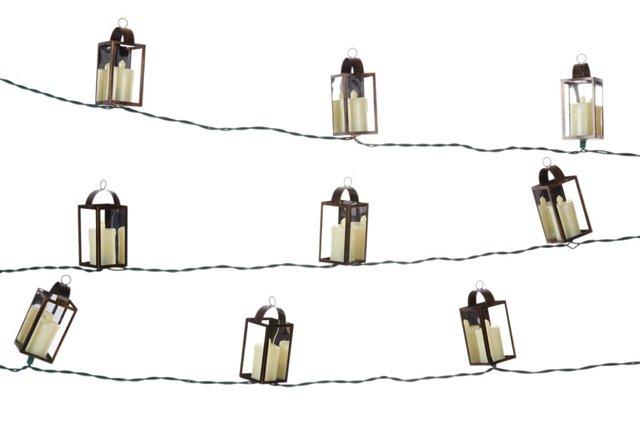 Antiqued Lantern String Lights Set
