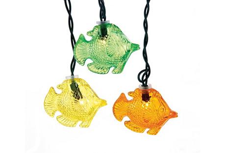 10-Light Fish String Lights, Multi
