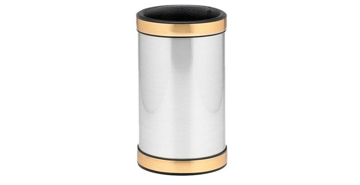 Two-Tone Mylar Wine Chiller, Silver/Gold
