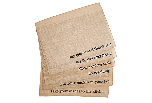 Asst of 6 Mind Your Manners Place Mats