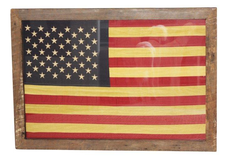 """38"""" x 54"""" Beam Wood Frame w/ Flag"""