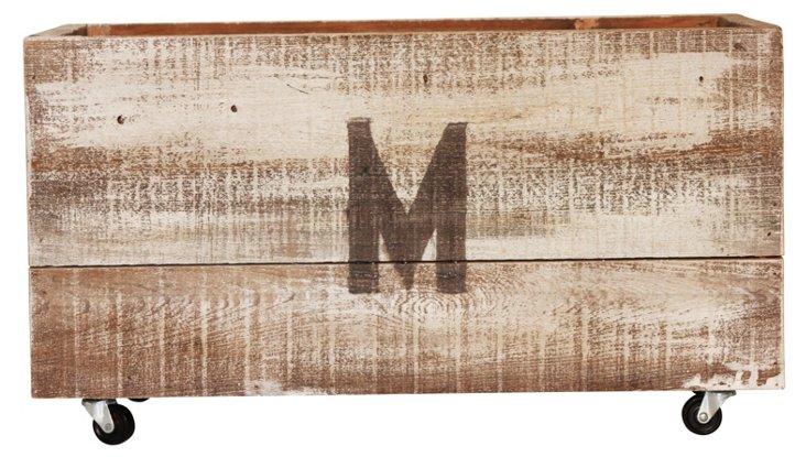 Monogrammed Medium Crate