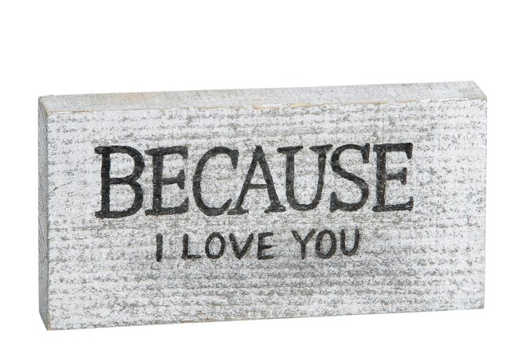 Because I Love You Word Block